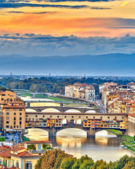 Wall Mural - Bridges over Arno river in Florence