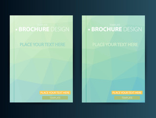 Brochure Design Template. Geometric shapes, Abstract Modern