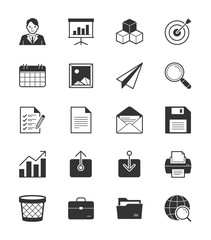 Business & Office icon set 1 on White Background - Vector Illustration
