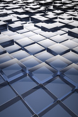 abstract glass cubes background