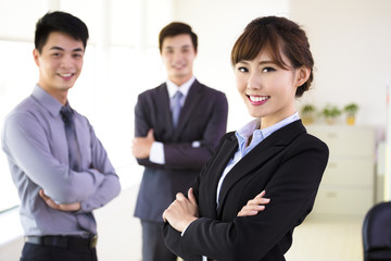 successful young business team standing in office