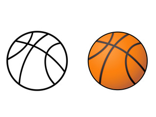 basketball, ball outline vector