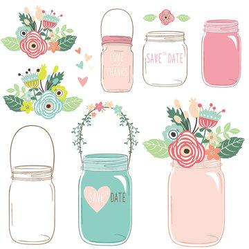 Flower Mason Jar