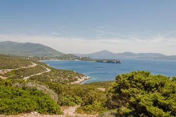 Alghero, Stadt, Monte Doglia, Küste, Küstenstrasse, Capo Caccia, Mittelmeer, Insel, Sardinien, Italien
