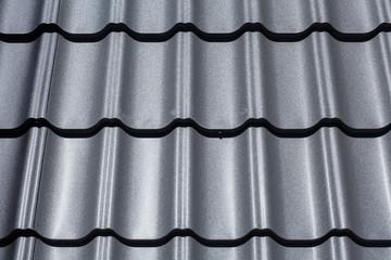 Closeup of dark metal tile