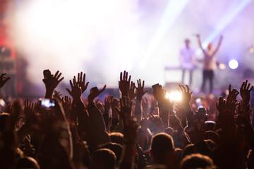 Crowd at concert Fotomurales