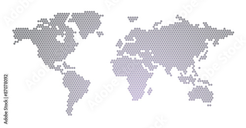 World map hexagon design stock image and royalty free vector files world map hexagon design gumiabroncs Gallery