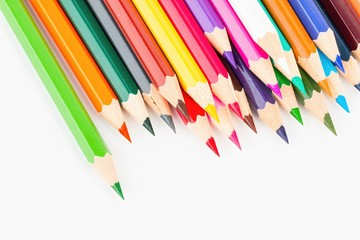 Colored pencils set - Stock image macro.