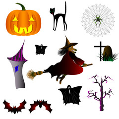 mystical and frightening characters for Halloween