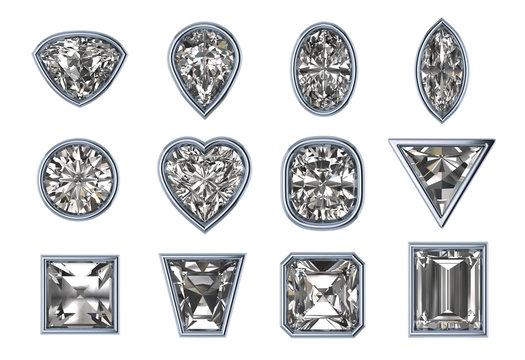 Silver Bezels set stock-Image
