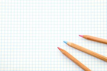 Color pencils  on graph paper