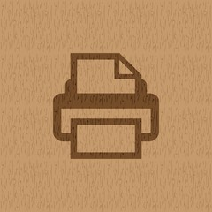 Printer icon, vector