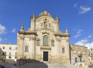 San Francesco d'Assisi church in Matera, Basilicata, Italy