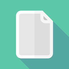 Long shadow document icon