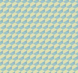 Hex 3D geometric vintage seamless pattern background