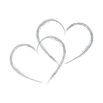 Zwei Herzen, Handzeichnung