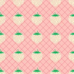 Pineberry seamless pattern