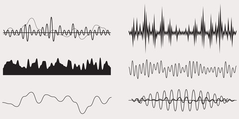 Audio Music Sound Wave,Vector Set