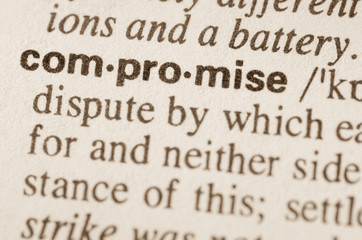 Dictionary definition of word compromise