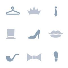 Fashion and style icon set.