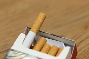 cigarette in a paccigarette in a packk