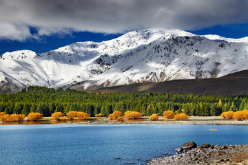 Fototapete - Lake Tekapo, New Zealand