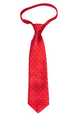 red tie on white background
