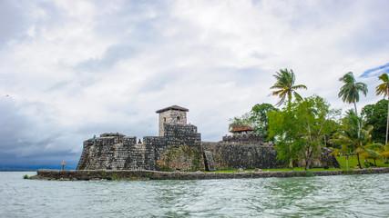 Fortress over the lake Amatitlan, Guatemala