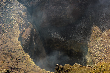Craters of volcanos