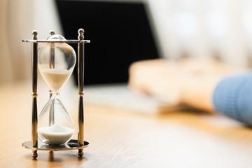 Hourglass, Computer, Time.