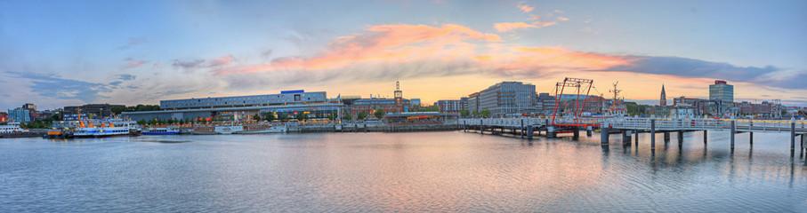 Aluminium Prints Port Panorama Kiel