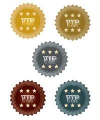 VIP Signe - Autocollant - Badge - Bannière - Icones