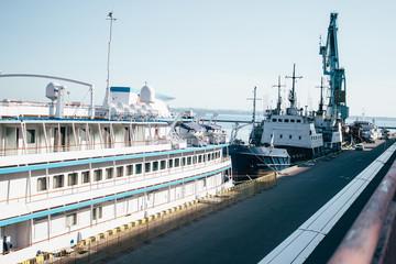 Passenger ship is in port. Odessa .