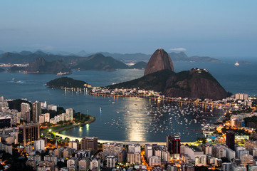 Wall Mural - Sugarloaf Mountain in Rio de Janeiro by Sunset