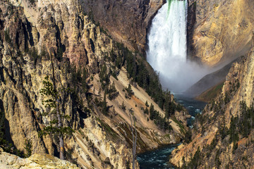 Lower Falls on the Yellowstone River inside Yellowstone National Park, Wyoming