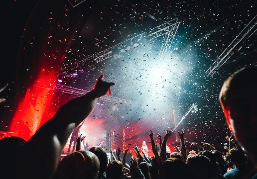 night club party crowd