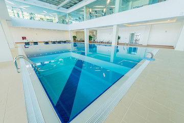 Indoor swimming pool in healthy concept