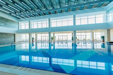 Indoor swimming pool in healthy concept