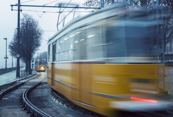 Trams in Budapest