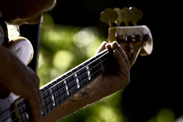 Four Strings a Playing