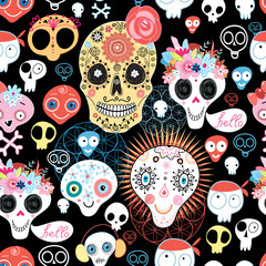 The pattern of skulls