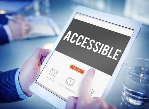 Accessible Approchable Attainable Available Business Concept