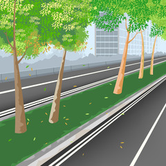 City streets,nature landscape vector background