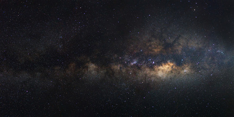 Panorama Milky Way galaxy, Long exposure photograph