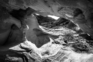 Black and White Abstract Rock Formations Valley of Fire Nevada