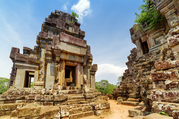 Ancient prang of Ta Keo temple. Angkor, Siem Reap, Cambodia