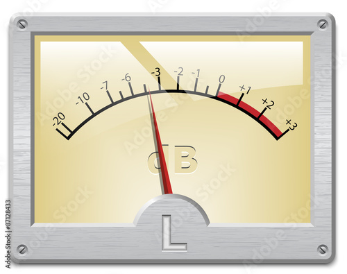 Analog Meter Background : Quot analog signal meter on white background vector