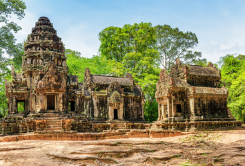 View of central sanctuary of Thommanon temple, Angkor, Cambodia