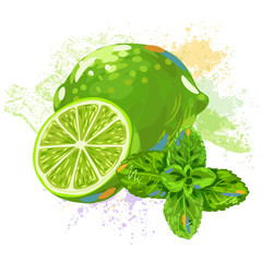 Lemon and Mint leaves
