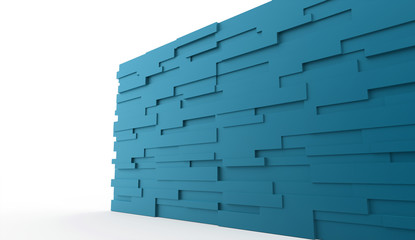 Blue stone wall concept